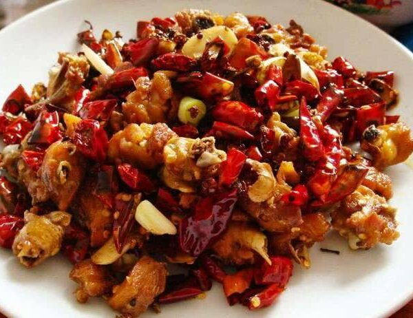 Spicy kylling snacks