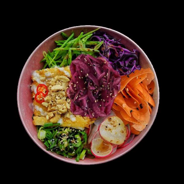 Poke Bowl – Tempura kylling